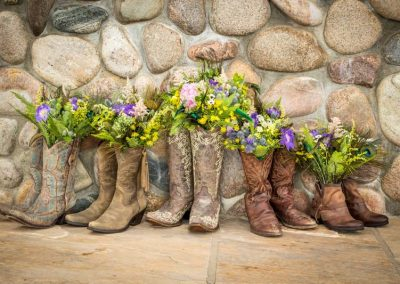 Cowgirl Boot flowers 400x284 - Weddings and Events