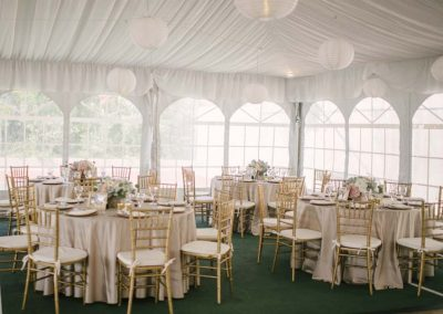 Reception Tables 400x284 - Weddings and Events