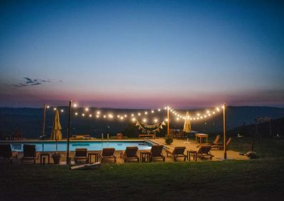 Sunset pool 400x284 - Weddings and Events