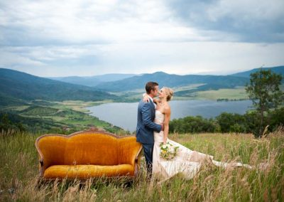 sofa catamount bride and groom 400x284 - Weddings and Events