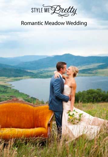 Romantic Meadow Wedding style mepretty - Press