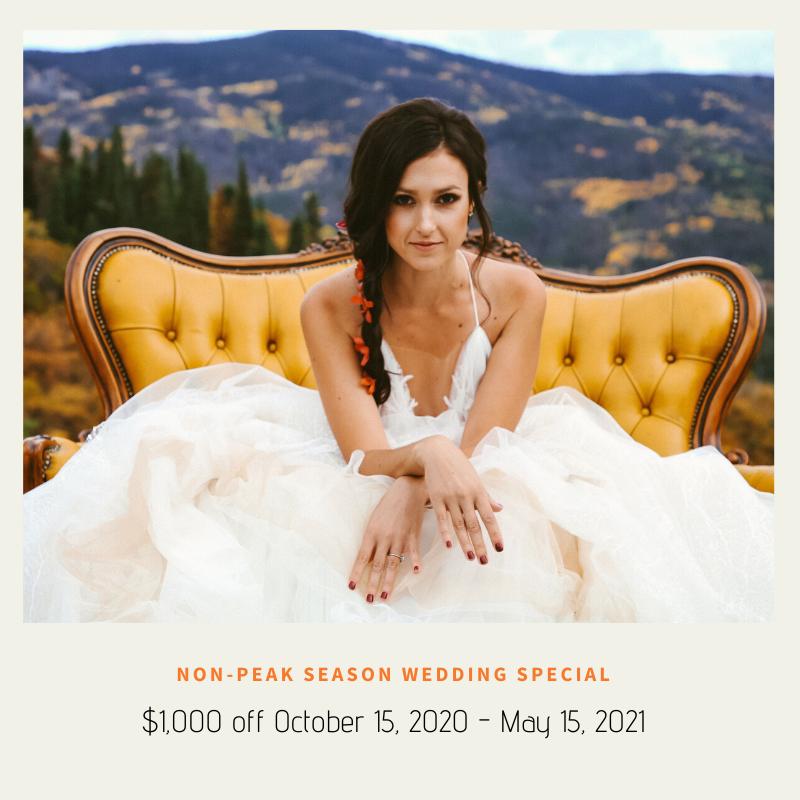 Non Peak Season Wedding Special - Wedding Specials